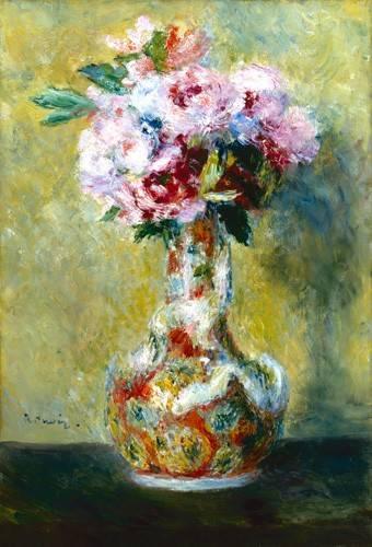 tableaux-de-fleurs - Tableau -Bouquet dans un vase- - Renoir, Pierre Auguste