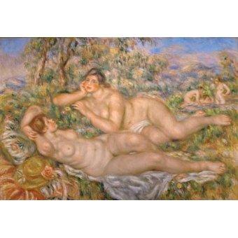 Tableaux de Nus - Tableau -Les baigneurs- - Renoir, Pierre Auguste