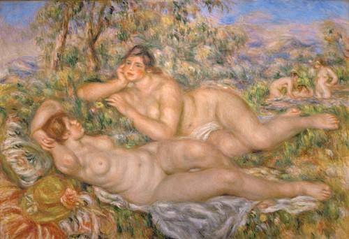 tableaux-de-nus - Tableau -Les baigneurs- - Renoir, Pierre Auguste