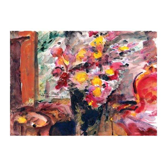quadros decorativos - Quadro -Flower Vase on a Table-