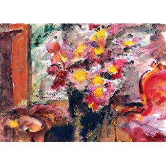 Tableaux de Fleurs - Tableau -Flower Vase on a Table- - Corinth, Lovis