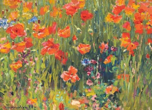tableaux-de-fleurs - Tableau -Coquelicots, 1888- - Vonnoh, Robert William