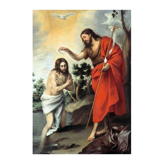 imagens religiosas - Quadro -Bautismo de Cristo, 1655-