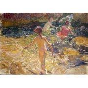 Tableau -Le bain dans la mer, Jávea-