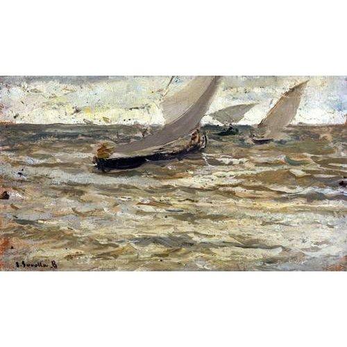 Tableau -Départ des bateaux, Asturies-