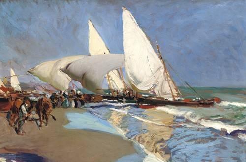 tableaux-de-paysages-marins - Tableau -Plage de Valence- - Sorolla, Joaquin