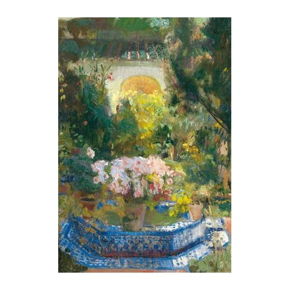 pinturas de paisagens - Quadro -Patio de la casa Sorolla, 1917-