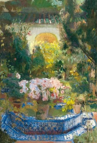 tableaux-de-paysages - Tableau -Cour de la maison Sorolla, 1917- - Sorolla, Joaquin