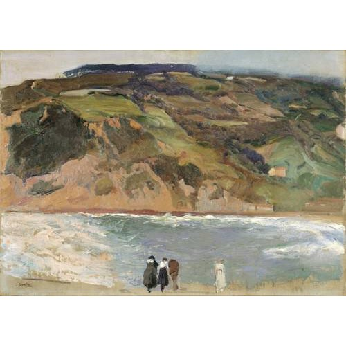 pinturas de paisagens - Quadro -Rompeolas de San Sebastián, 1917-
