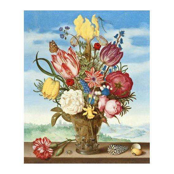 imagens de flores - Quadro -Bouquet of Flowers on a Ledge-