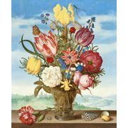 Tableau -Bouquet of Flowers on a Ledge-