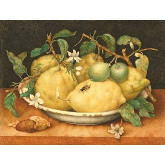 Tableaux nature morte - Tableau -Bodegón con cesto de limones- - Garzoni, Giovanna