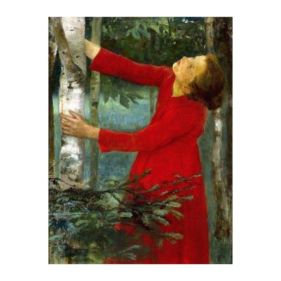 pinturas do retrato - Quadro -Birdsong-