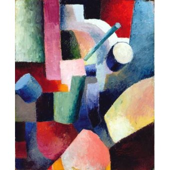 Tableaux abstraits - Tableau -Abstracto _ Colored Composition of Forms, 1914- - Macke, August