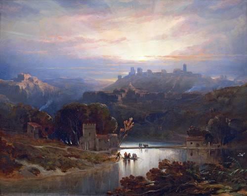 tableaux-de-paysages - Tableau -El Castillo de Alcala de Guadaira, Sevilla- - Roberts, David