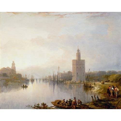 Tableau -La Torre del Oro, Sevilla-