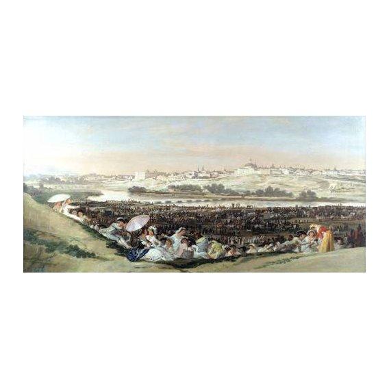 pinturas de paisagens - Quadro -La Pradera de San Isidro, 1814-
