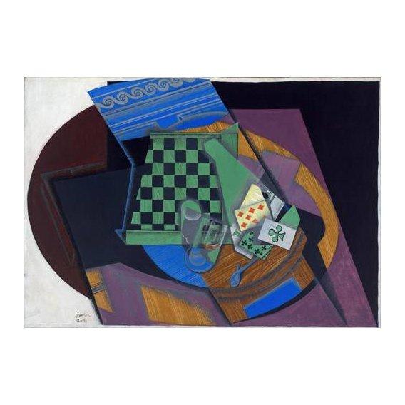 pinturas abstratas - Quadro -Damier et cartes à jouer, 1919-