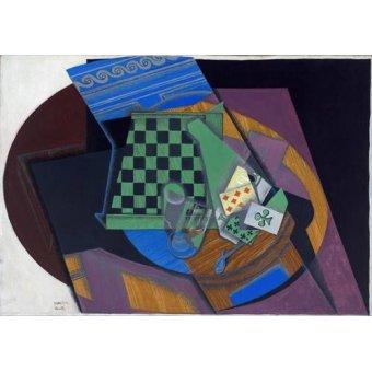 Tableaux abstraits - Tableau -Damier et cartes à jouer, 1919- - Gris, Juan
