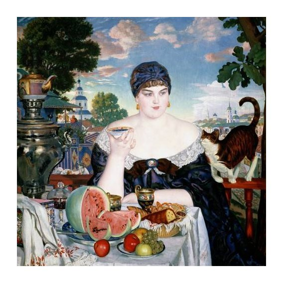 naturezas mortas - Quadro -Merchant's Wife at Tea-