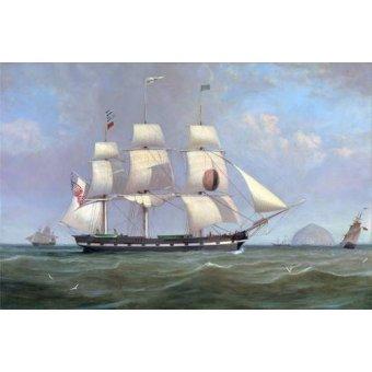 Tableaux de paysages marins - Tableau -The Black Ball Line Packet Ship 'New York' off Ailsa Craig, 183 - Clark, William