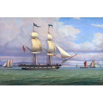 Tableaux de paysages marins - Tableau -The English Brig 'Norval' before the Wind, 1833- - Clark, William