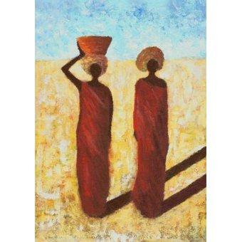 Tableaux orientales - Tableau -African Girls, 2001- - Wilson, Tom