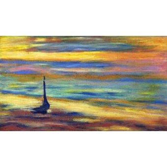 Tableaux de paysages marins - Tableau -la plage- - Molsan, E.