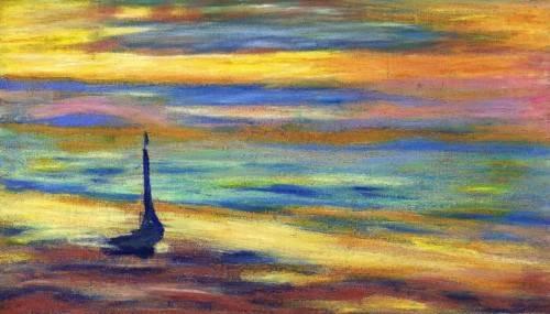 tableaux-modernes - Tableau -la plage- - Molsan, E.