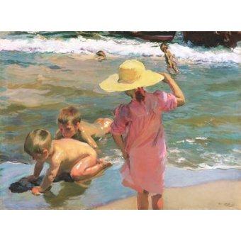Tableaux de paysages marins - Tableau -Les jeunes amphibiens, 1903- - Sorolla, Joaquin