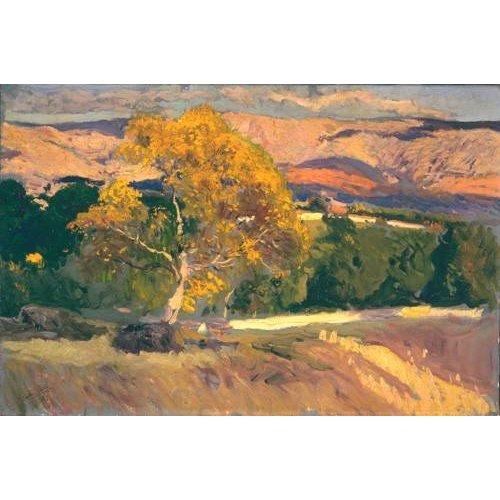 Tableau -Arbre jaune, la ferme, 1906-