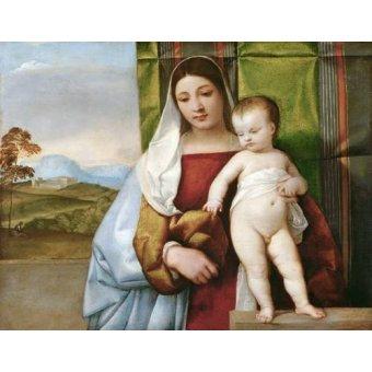 Tableaux religieuses - Tableau -Virgen Gitana- - Tiziano, Tiziano Vecellio