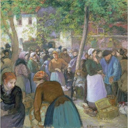 Tableau -Marché de la volaille à Gisors-
