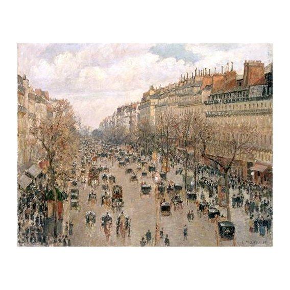 pinturas de paisagens - Quadro -Boulevard_Montmartre, 1897-