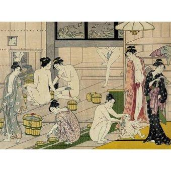 Tableaux orientales - Tableau -Bathhouse women- - Kiyonaga, Torii