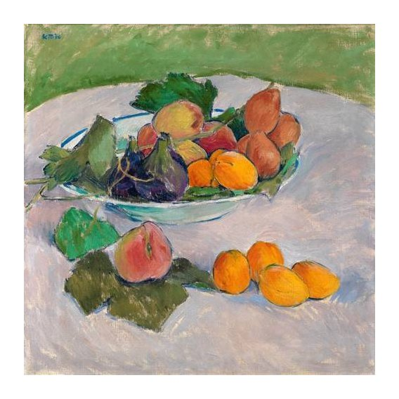 naturezas mortas - Quadro -Still life with fruits and leaves-
