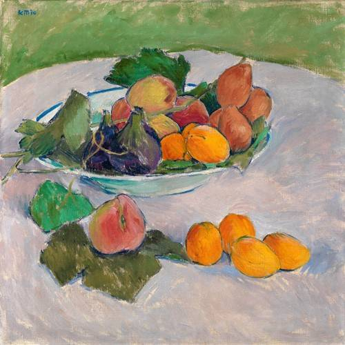 tableaux-nature-morte - Tableau -Still life with fruits and leaves- - Moser, Kolo