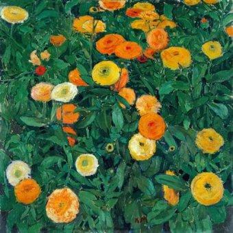 Tableaux de Fleurs - Tableau -Caléndulas (Marigolds)- - Moser, Kolo