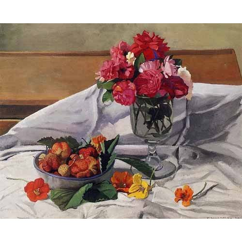 Tableau -Flores y fresas-