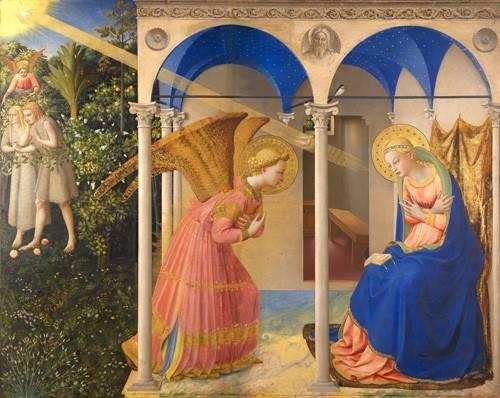 tableaux-religieuses - Tableau -L'annonciation- - Fra Angelico, G. Da Fisole