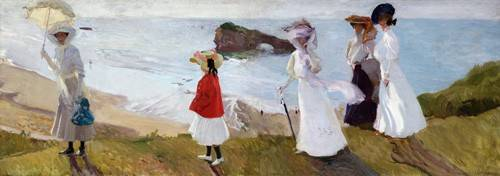 tableaux-de-paysages-marins - Tableau -Promenade du phare, Biarritz, 1906- - Sorolla, Joaquin