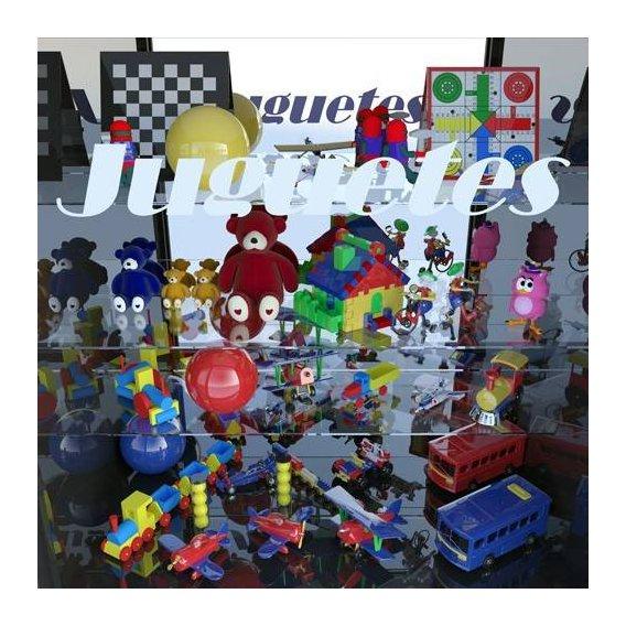 pinturas modernas - Quadro -La tienda de juguetes-