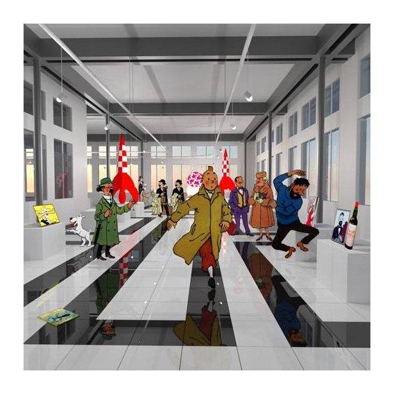 pinturas modernas - Quadro -Noche en el museo de tintin-