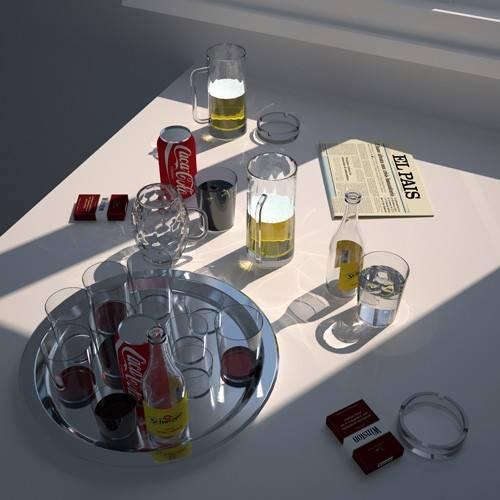 tableaux-modernes - Tableau -Mesa de cafe- - Aguirre Vila-Coro, Juan