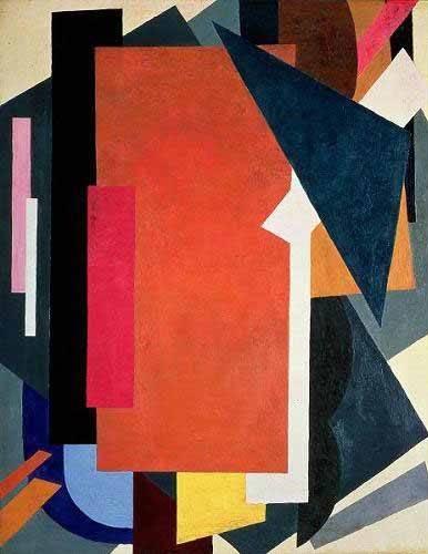 tableaux-abstraits - Tableau -Painterly architectonics- - Popova, Lyubov Sergevna