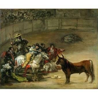 Tableaux de faune - Tableau -Corrida de toros, Suerte de Varas (toros)- - Goya y Lucientes, Francisco de