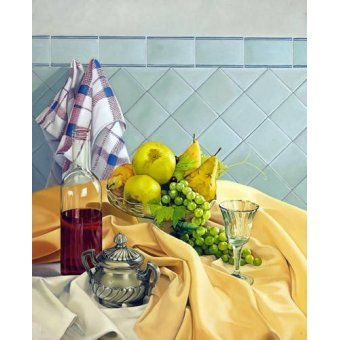 Tableaux nature morte - Tableau -Bodegon con frutas- - Zamarbide, Federico Garcia