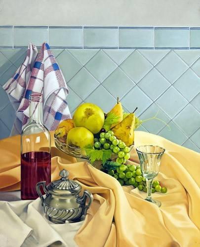 tableaux-nature-morte - Tableau -Bodegon con frutas- - Zamarbide, Federico Garcia