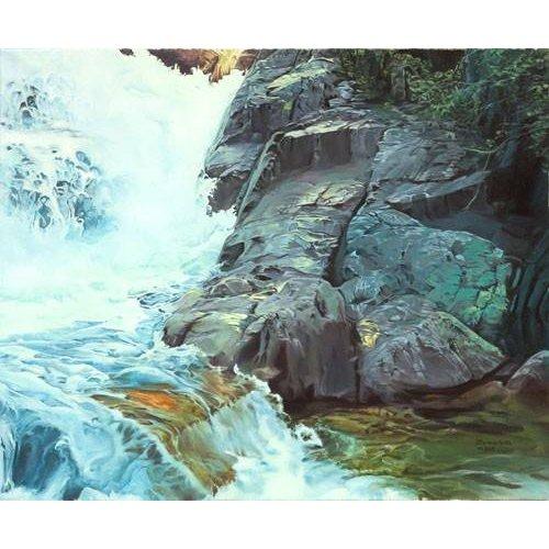 Tableau -Paisaje con cascada-