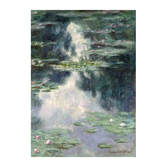 pinturas de paisagens - Quadro -Pond with Water Lilies, 1907-